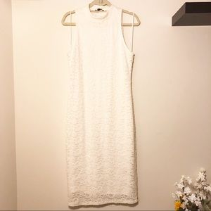 White Lace Body-con Dress by Express!